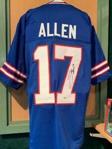 Josh Allen Autographed Auto Buffalo Bills Blue custom jersey Beckett BAS COA HOT