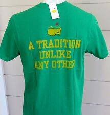 NEW Masters GREEN T-Shirt SIZE LARGE  A TRADITION UNLIKE ANY OTHER 47 Bran