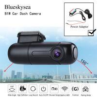 Blueskysea B1W Mini Car Dash Camera Vehicle DVR Parking Mode+Power Adapter Local