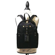 MARC JACOBS Preppy Backpack BLACK Nylon PURSE Top Handle SCHOOL Gold NWT $250