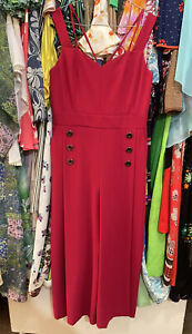 Karen Millen Fuscia Jumpsuit Size 14 New Condition