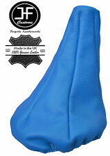 BLUE REAL LEATHER MANUAL GEAR GAITER FITS FIAT PANDA 2003-2012
