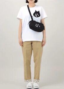 Ne-net Cat Face Cross Body Black Shoulder Bag From Japan - New