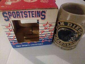 Vintage San Diego Chargers Sportsteins Dram Tree Textured/Raised Mug With Box
