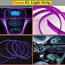 2M Purple EL Wire Car Interior Decor Fluorescent Neon Cold Strip light Fit BMW