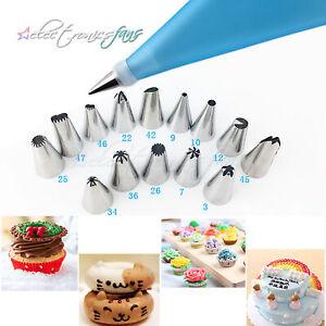 8PCS Icing Piping Nozzles Tips Cake Sugarcraft Pastry Decor Baking Tools Kit