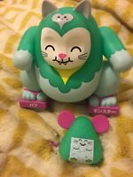Buff Monster Miao Cat And Mousubi, Action Figures Toys Very Rare Only 100 Made