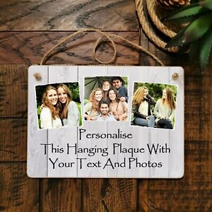 "8x6"" Personalised Plaque Photos Friendship Family Friend Gift Birthday Present"