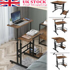 Mobile Computer Workstation Desk Height Adjustable Stand UP Laptop Table Study