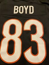 """New listing Cincinnati Bengals Nike Game Jersey Tyler Boyd Size Large """"New Stripes"""" 2021"""