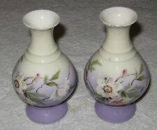 Antique/Vintage Austrian China Hand Painted Vases - Karlsbad Porcelain Factory