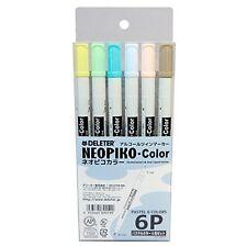 DELETER alcohol marker Neopiko color pastel 6color set Manga Anime Drawing Japan