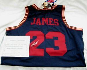 LEBRON JAMES 2003 X-Large Nike Navy Blue Rookie Autograph Authentic Jersey COA