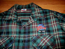 Hard Rock Cafe New York City Plaid Flannel Long Sleeve Button Shirt Xl/Tg