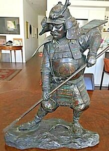 Samurai  figurine Late Japan 19th century Early 20th century