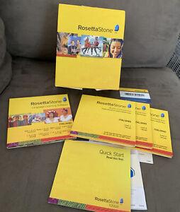 Rosetta Stone Italian Complete Level 1-3Version 3 Set Language CDs