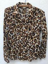 Michael Kors Leopard Print Button Front Shirt sz 8