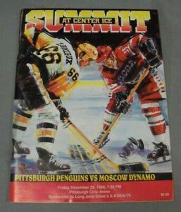 Pgh Penguins vs Moscow Dynamo Program, December 29, 1989, Civic Arena, Decent