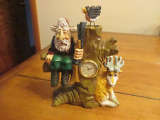 David Frykman The Hunter Clock Figurine W/ Deer Very Good Condition Adult Owned