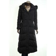 Madison Ladies Maxi Down Coat Detachable Faux Fur Hood Black, Size S