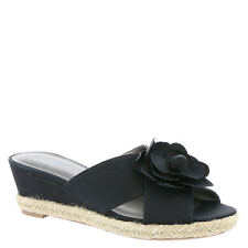 LifeStride Omega Black Espadrille Wedge Shoes Size 6m