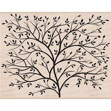 DESIGNBLOCK TREE Rubber Stamp S5037 Hero Arts Brand NEW! leaves simple nature