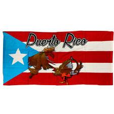 Puerto Rico Beach Towel Gallos