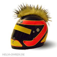 Helmirokese/ Helm Iro Punk Irokese/ Helmaufsatz -für Motorradhelm -Schwarz- Gelb