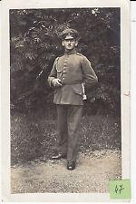 Soldat allemand fouragerre pose   guerre 14-18 photo sur CPA lot 47