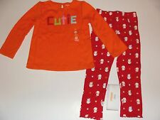Gymboree Holiday Cozy Cutie Girls Size 4T Cutie Shirt Top Red Leggings NWT NEW
