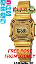 CASIO WATCH VINTAGE RETRO LADIES GOLD LA670WGA-9DF LA670WGA LA670