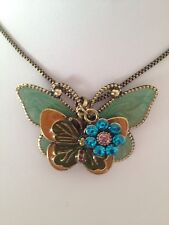 Temperament Butterfly  Vintage Gold Chan  Necklace