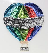 Blue, Silver, Red, Green Hot Air Balloon Sequin Applique Shinny