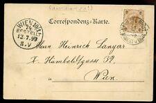 Austria 1899 U/b PPC Gruss aus namiest Castillo Niños namiest B Brunn Tpo