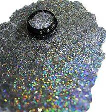 3ml Nail Art - Glitterfäden (0,2x4mm) Acryl Dose,Silber Hologramm,Nr. 808-015-a