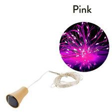1M 2M LED Solar Copper Cork Wire String Fairy Lights Wine Bottle Decor Lamp ST