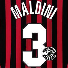 MALDINI PERSONALIZZAZIONE MILAN CENTENARIO HOME NOME NUMERO SET NAME 1999-00