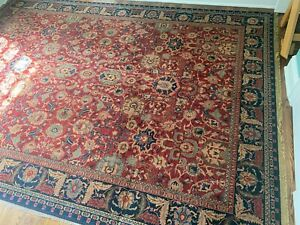 oriental rugs hand knotted wool 9x12 Red & Blue