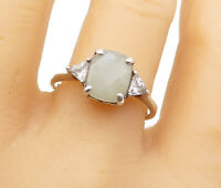 925 Sterling Silver - Quartz & Topaz Solitaire With Accents Ring Sz 10 - R14889