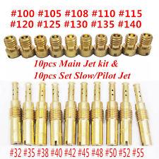 10Pcs Set Slow/Pilot Jet for PWK Keihin OKO CVK &10Pcs Carburetor Main Jet Kit