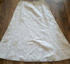 Laura Ashley Petite White Linen Skirt Size 6P Lined Excellent Condition