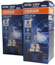 H15  Osram COOL BLUE INTENSE Xenon Look 3700K PGJ23t-1 bulbs 64176CBI Duo