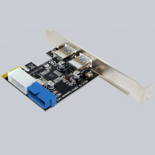 External 2Port USB3.0 + Internal 19pin Header PCIe Card 4pin IDE Power Connector