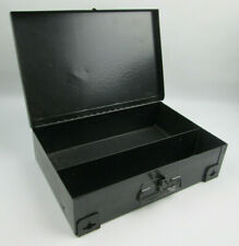 Metal Storage Box 11 x 7 x 2.5 Wall Mount or Table Top Old Painted First Aid Box