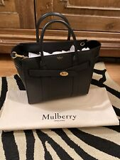 Mulberry Small Zipped Bayswater BLACK Classic Grain NEW