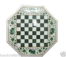 """24"""" Marble Coffee Table Top Dining Room Furniture Rare Mosaic Inlay Arts Decor"""
