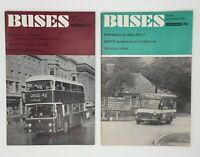 Buses Illustrated Magazine Ian Allan No 208 July 1972 & No 212 November 1972