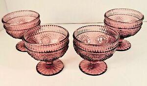 Pioneer Woman Adeline Plum Glass Goblet Ice Cream Dessert Cup (Retired)