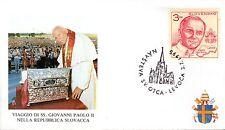 314- FDC VATICAN VISITE PAPE JEAN PAUL II  EN SLOVAQUIE