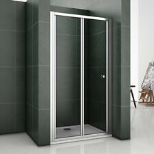 1000mm Chrome BiFold Shower Glass Door Enclosure Cubicle Screen Bathroom AB